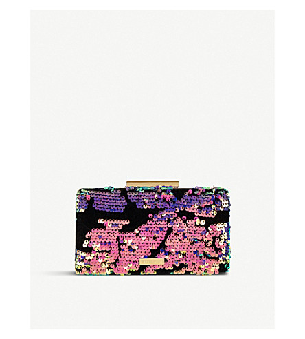 SKINNYDIP Luxe sequined clutch (Luxe+hue
