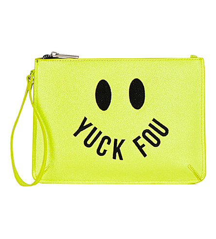 SKINNYDIP Yuck Foo clutch bag (Multi