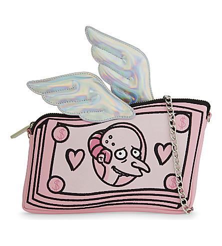 SKINNYDIP The Simpsons™ Mr Burns dollar clutch bag (Pink