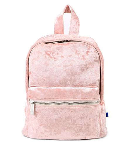 SKINNYDIP Crushed velvet mini backpack (Multi