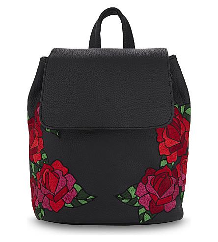 SKINNYDIP Embroidered Cressida backpack (Black