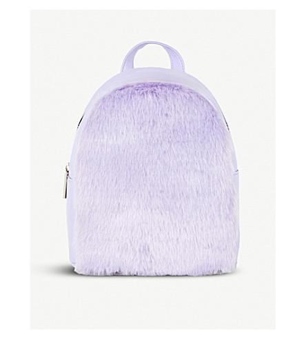 SKINNYDIP Lilac faux-fur mini backpack (Starlight+mini