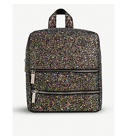 SKINNYDIP Midnight Molly glittered faux-leather backpack (Midnight+molly