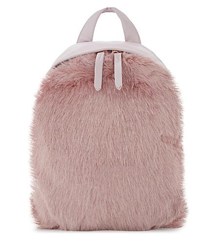 SKINNYDIP Charlie mini faux-fur backpack (Pink