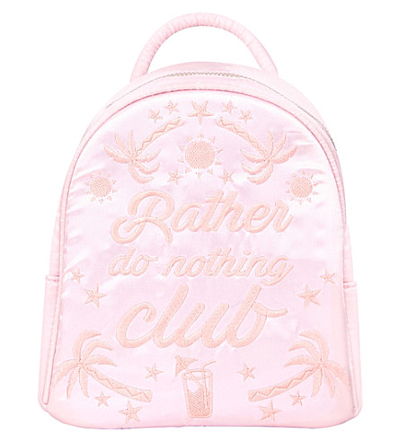 SKINNYDIP Rather Do Nothing backpack (Pink