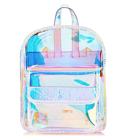 SKINNYDIP Clear Holographic Backpack (Multi
