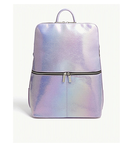 SKINNYDIP Iridescent faux-leather backpack (Purple