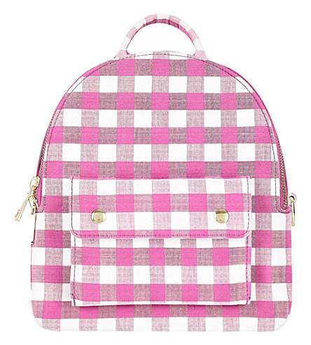 SKINNYDIP Gingham chloe backpack (Pink