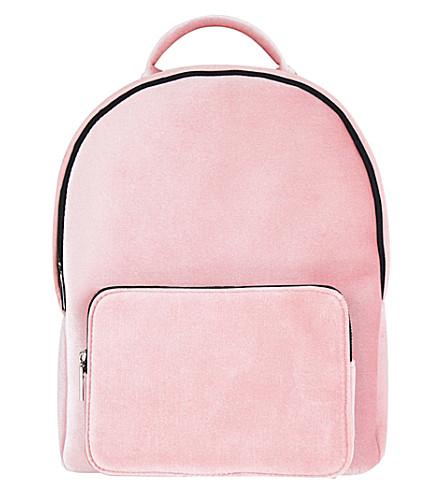 SKINNYDIP Charlie velvet backpack (Pink