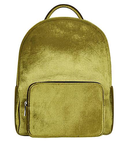 SKINNYDIP Charlie velvet backpack (Green
