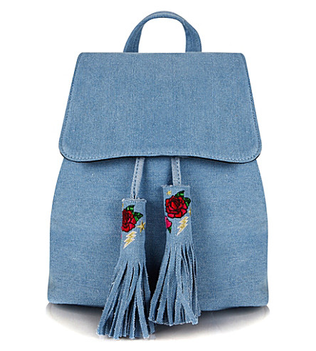 SKINNYDIP Cressida denim backpack (Blue