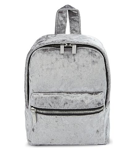 SKINNYDIP Crushed velvet backpack (Multi