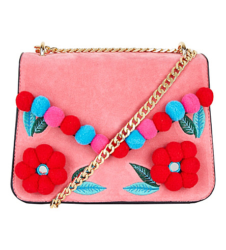 SKINNYDIP Laureli pom pom-embellished cross-body bag (Multi