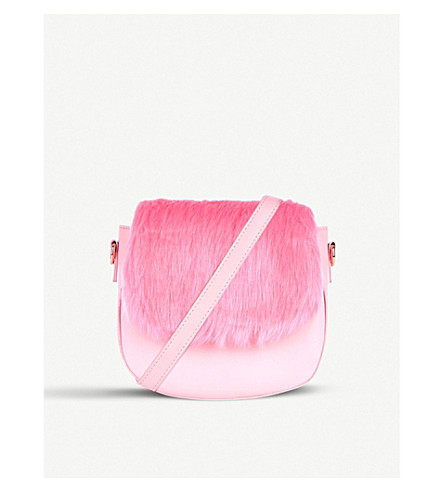 SKINNYDIP Rhie faux-fur cross-body bag (Pink