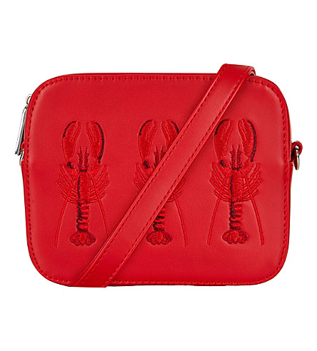 SKINNYDIP Lobster tin cross-body bag (Red