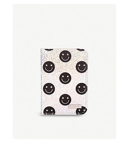 SKINNYDIP Smiley glitter passport holder (Smiley