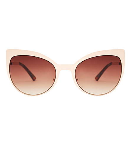 SKINNYDIP Scarlett gold metal cateye sunglasses (Gold+metal
