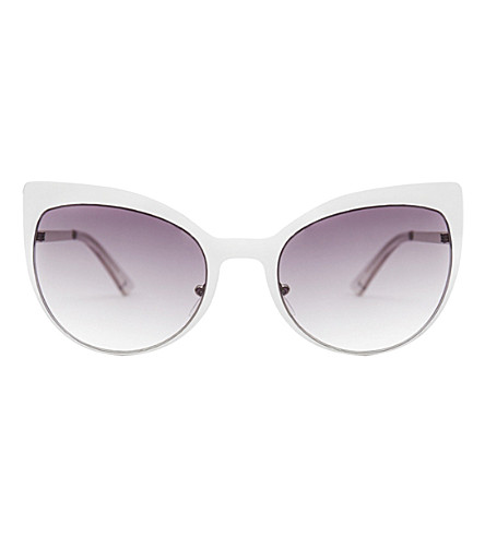 SKINNYDIP Scarlett silver metal cateye sunglasses (Silver