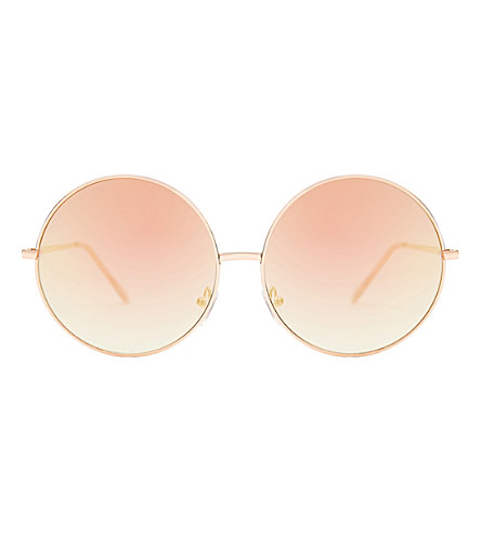 SKINNYDIP Stella oversized round sunglasses (Gold+ombre