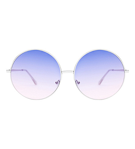 SKINNYDIP Stella rose gold metal round sunglasses (Rose+gold
