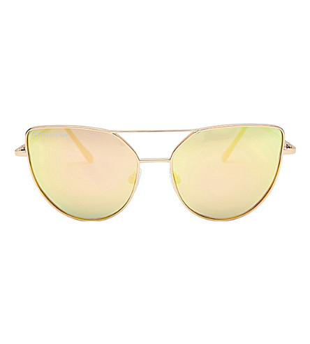 SKINNYDIP Mia aviator sunglasses (Rose+gold