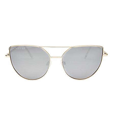 SKINNYDIP Mia Aviator Sunglasses (Silver
