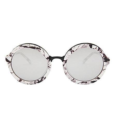 SKINNYDIP Lou Lou marble round sunglasses (Black+multi