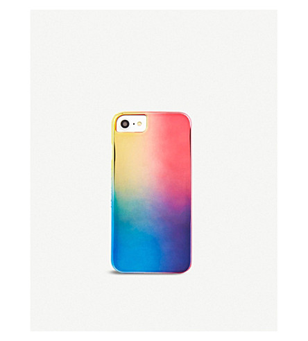 SKINNYDIP Mirrored rainbow plastic case iPhone 6/7 plus (Rainbow+chrome