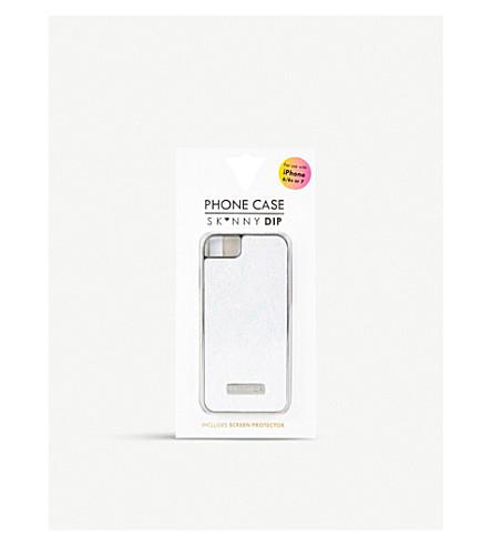 SKINNYDIP 珠光 iPhone 6/6 s/7 plus/8 加壳 (银色