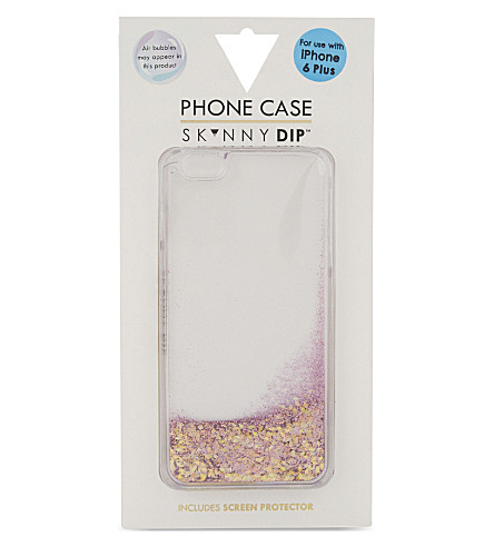 SKINNYDIP Liquid glitter iPhone 6 plus case (Lilac