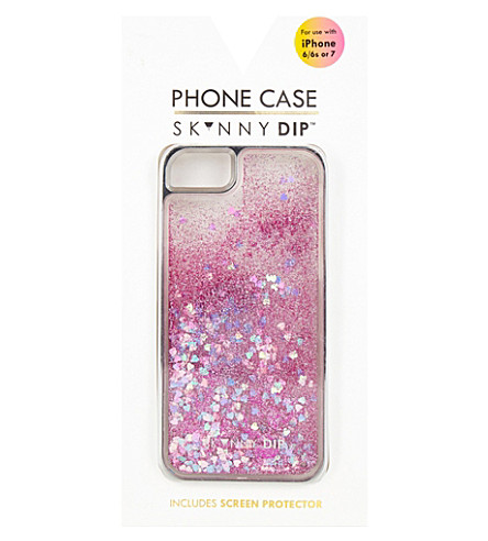 SKINNYDIP Flamingo sequin glittered iPhone 6/7 plus case (Multi