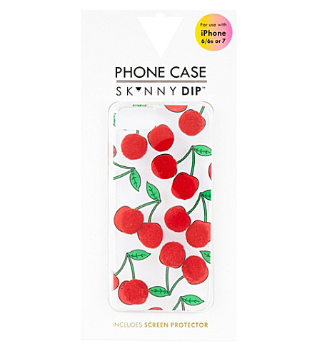 SKINNYDIP Cherry pom pom iPhone 6/7 (Multi