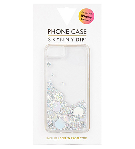 SKINNYDIP Holo circle jelly glitter iPhone 6/7 case (Multi
