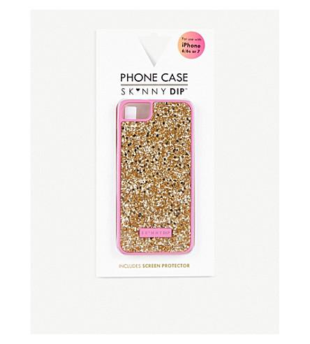 SKINNYDIP Glitter iPhone 6 Plus/7 Plus case (Gold