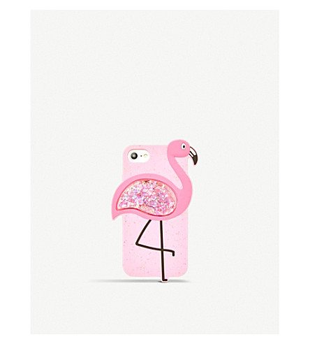 SKINNYDIP Flamingo iPhone case (Glitter+silicone