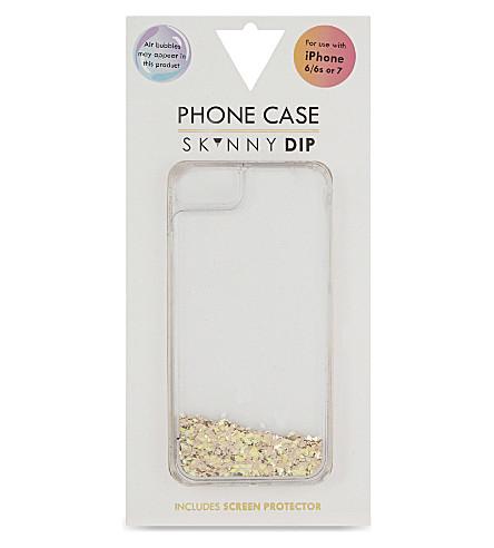 SKINNYDIP Liquid glitter iPhone 6/6s/7 case (Gold
