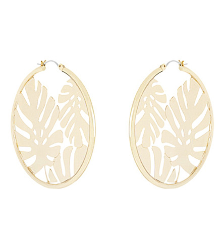 SKINNYDIP Athalia palm hoop earrings (Gold
