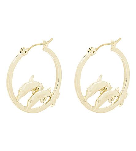 SKINNYDIP Dolphin hoop earrings (Gold