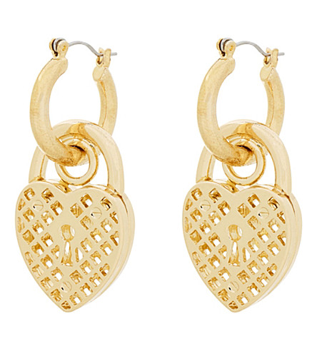 SKINNYDIP Aida chunky padlock earrings (Gold