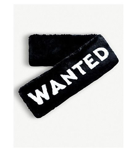 SKINNYDIP Wanted faux-fur scarf (Wanted