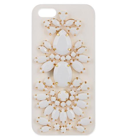 SKINNYDIP Jewelled iPhone 5 case (White