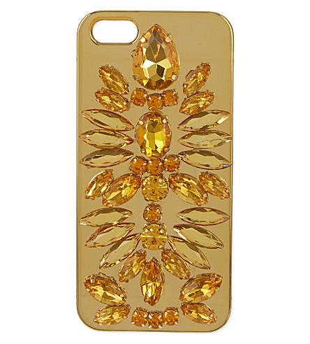 SKINNYDIP Jewelled iPhone 5 case (Gold