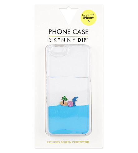 SKINNY DIP Dolphin fluid iPhone 6 case (Blue