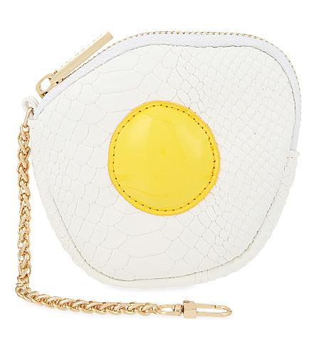 SKINNYDIP Fried egg coin purse (White