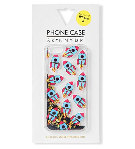 SKINNYDIP Glitter rocket iPhone 6 case (Multi