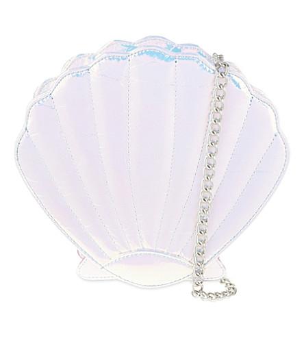 SKINNYDIP Iridescent shell cross-body bag (Silver