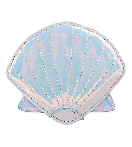 SKINNYDIP Iridescent shell coin purse (Silver