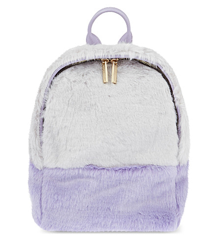 SKINNYDIP Faux-fur backpack (Purple