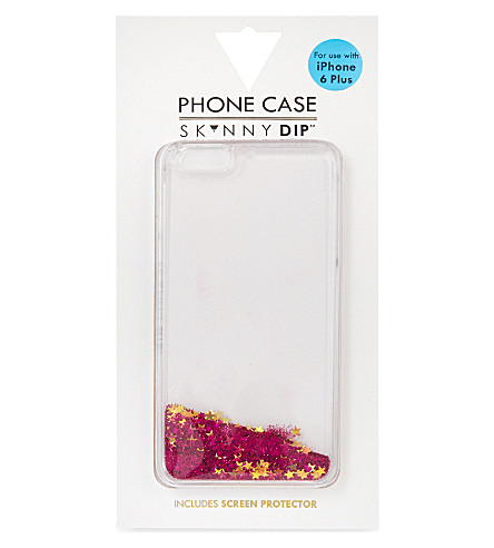 SKINNYDIP Liquid glitter and stars iPhone 6/6S/6+ case (Pink