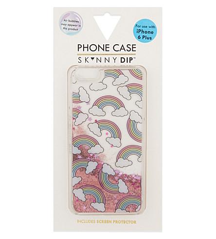 SKINNYDIP Rainbow glitter iPhone case 6+ (Multi